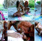 Hot interacial threesome with 2 honry ebony babes part 4