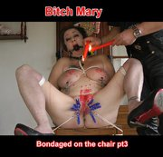 In this last part where I am always tied on the chair, my master is pouring hot wax on my breasts,...