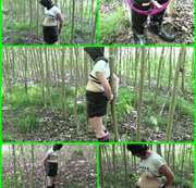 Outdoor video with handcuffs. Your amateur MILF Angela was in the woods and not missing during this...
