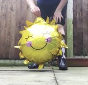 Arikajira Sun Balloon Crush Wellies BBW - a wonderful video of me crushing a foil sun shaped balloon...