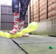Arikajira Crush Snake Balloon Fetish 2 - playing with my wobbly snake balloons, squashing them and...
