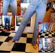 3 x in dieselbe Jeans gepisst 3
