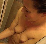 Milf in der Dusche beobachtet