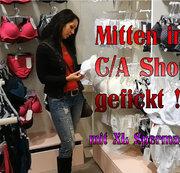 Mitten im C/A Shop gefickt