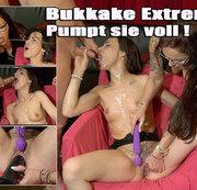 Bukkake extrem - pumpt sie voll!