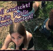 MEGAPANNE!!! Inflagranti beim Public Blowjob Contest erwischt!