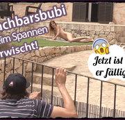 Nachbarsbubi (19) beim Spannen erwischt! Jetzt ist er fällig!