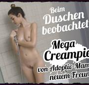 Beim Duschen beobachtet!!! Mega Creampie von AdoptivMamas neuem Freund!