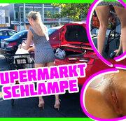 Vorm Supermarkt ohne Höschen erwischt und gefickt! | Anny Aurora