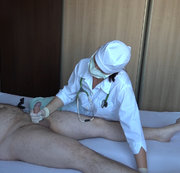Nurse Danielle trains her slave