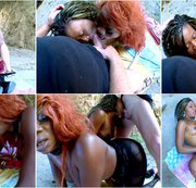 Hot interacial threesome with 2 honry ebony babes part 2