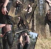 Aiyana`s Spaziergang im Wald