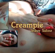 Creampie, erst gefickt und dann abgespritzt .
