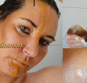 Honig anstatt Shampoo genommen