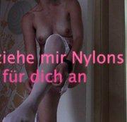 Ich ziehe mir Nylons fuer dich an