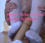 Nylon-Fuesse wichsen deinen Schwanz.........