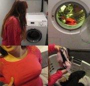 Neue Nachbarin im Waschkeller getroffen!