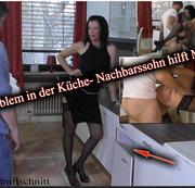 Problem in Küche...Nachbarssohn hilft Milf