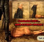 Gnadenlos HART ... ABER EXTREM UNFAIR! - BDSM extrem Bastonade, Spanking und Boots Fetisch - Teil 2