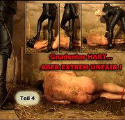 Gnadenlos HART...ABER EXREM UNFAIR! -Stiefel lecken,Anspucken & knallharte Auspeitschung !- Teil4