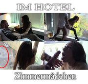 Zimmermädchen am Hotelfenster gefickt