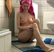 Badläufer bepisst nach dem duschen