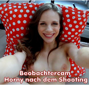 Beobachtercam -  Horny nach dem Shooting!