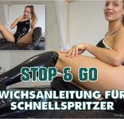 STOP & GO! Schnellspritzer Wichsanleitung in Latex
