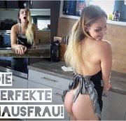 Die perfekte Hausfrau gefickt & vollgespritzt!
