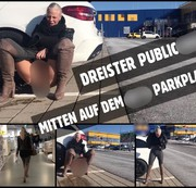 Mitten auf dem IK*A Parkplatz | Public PISS nach dem shoppen