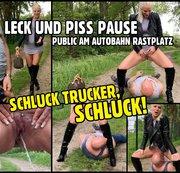 Luxus Bitch vs. LKW Fahrer | Public PISS und LECK Pause an der Autobahn