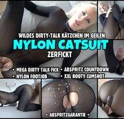 DIRTY TALK FICK im Nylon Catsuit | Schafft er es bis zum Abspritz Countdown?