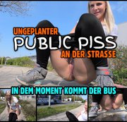 Ungeplanter PUBLIC PISS | In dem Moment kommt der Bus...