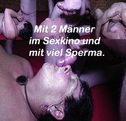 Viel Sperma im Sexkino von 2 Männer.