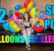 12 Sit Pop Beach Balls Challenge!