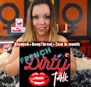 French Dirty Talk BJ and Cum dans la bouche!