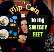 Sniff meine verschwitzten Füße & Flip eine Münze zu Cum ... oder nicht!