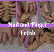Goldene Fingernägel und ihr Spielzeug