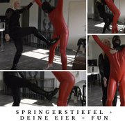 Ballbusting in Springer Stiefeln