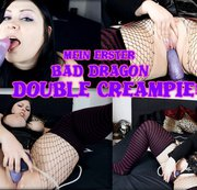 Mein erster Fick mit Bad Dragon - Doppelter Creampie!!!