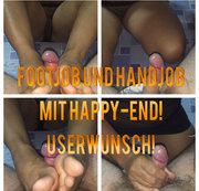 Footjob und Handjob mit Happy-End! Userwunsch!
