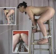 Auf der Leiter - Fotze gesprengt