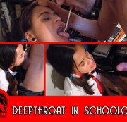 Deepthroat in schoolgirl
