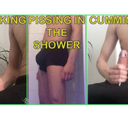 Pissing + shower + jerking + cumshot