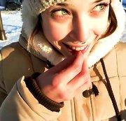 PUBLIC POV! Es war so kalt, dass das Sperma gefroren ist!