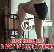 High Heels sind ein Teil des Seins eine Frau,