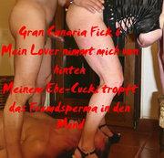 Gran Canaria Fick 6 - Meinem Ehe-Cucki tropft das Fremdsperma ins Gesicht
