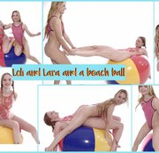 LOLICOON: Loli and Lara and a beach ball Download