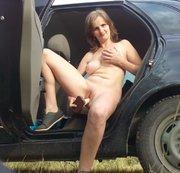Schnell Masturbation im Wagen