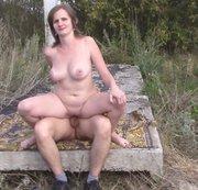 Ich sitze auf der des Pimmel